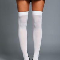 OPAQUE THIGH HIGH SOCKS