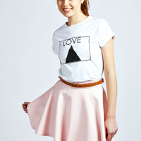 Giselle Scuba Skater Skirt With Belt