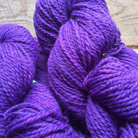 Purple yarn, Peace Fleece, wool for knitting yarn, worsted weight, Brenda's Purple, violet, yarn shop