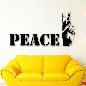 Wall Sticker Vinyl Decal Good peace Hippie Cool Design for Living Room ig1213