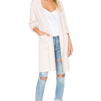 BLQ BASIQ Long Cardigan in Oatmeal | REVOLVE