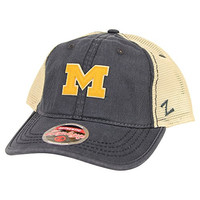 Zephyr NCAA College Slouch Style Trucker Hat (Michigan Wolverines)
