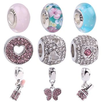 Silver Color Mother Mom Dad Daughter Sister Perfume Bottle Beads Fit Pandora Original Charm Bracelet Family & Jewelry