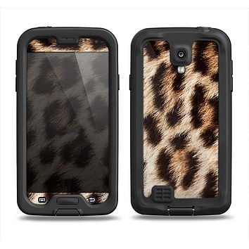 The Leopard Furry Animal Hide Samsung Galaxy S4 LifeProof Nuud Case Skin Set