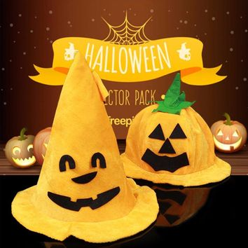 Halloween Costume Party Supplies Amusing Pumpkin Hat Props Cute Decoration Comfortable Wearing Cap Clothing Accessories