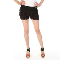 Jolt Juniors Tiered Crochet Short at Dry Goods