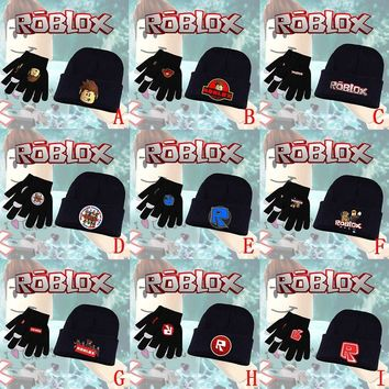 Cool Game Roblox Rock Band Rainbow Llama Smash Horse Knitted Gloves + Skullies Beanie Hat Cap Halloween Cosplay Costume Sets SuitsAT_93_12