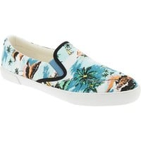 Old Navy Womens Patterned Canvas Slip Ons