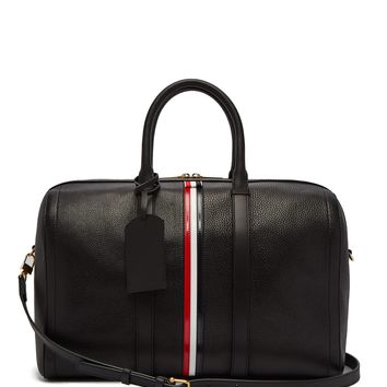 Tricolour-striped leather holdall | Thom Browne | MATCHESFASHION.COM US