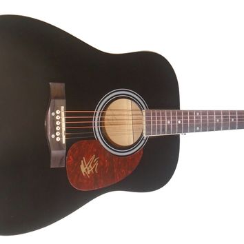 """Michael Ray Autographed Full Size 41"""" Country Music Acoustic Guitar, Proof Photo"""