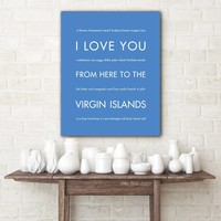 VIRGIN ISLANDS Travel Poster | Gift Idea | HopSkipJumpPaper