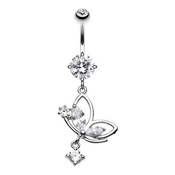 Darling Butterfly Belly Button Ring