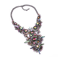 Mistique Jeweled Bib Necklace