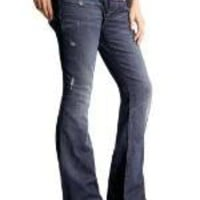 Full panel boot cut jeans (distressed wash)