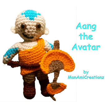 Amigurumi Doll Aang the Avatar the Last by MonAmiCreationz on Etsy