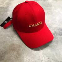 CHANEL Embroidered Baseball Cap Hat