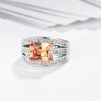 Luxurious Nobel Zircon Diamond Ring