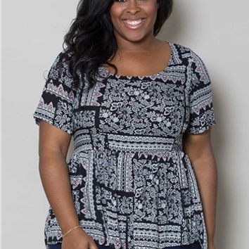 Plus Size Tops | Jolene Babydoll Top | Swakdesigns.com