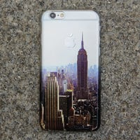 New York City Crystal Transparent iPhone 6 Case,iPhone 5S/5 Case,iPhone 5C Case Clear iPhone Case NYC