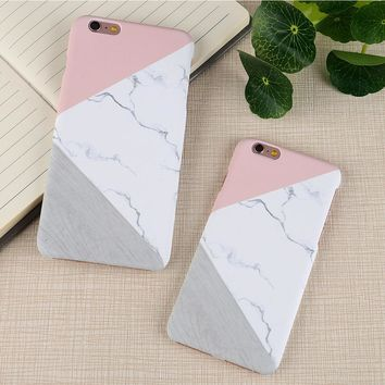FLOVEME For iPhone X iPhone 5S 5 SE Case Ultra Thin Marble Wood Patterned Phone Bag Cases For iPhone 7 6 6S Plus Funda Accessory