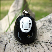 Spirited Away NO FACE / Faceless Studio Ghibli doll key chain rings 4 S Size