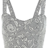 Floral Texture Bra Top - Tops  - Apparel