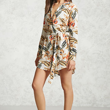 Satin Printed Shirt Dress