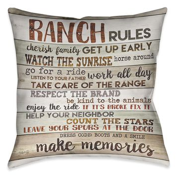 Rustic Ranch Indoor Decorative Pillow
