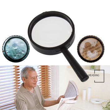 Mini Pocket 1pc Top Handheld Reading 5X Magnifier Hand Held Magnifying acrylic 25mm Magnifying Glass Lens Reading Microscope
