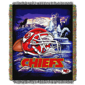 Kansas City Chiefs NFL Woven Tapestry Throw (Home Field Advantage) (48x60)