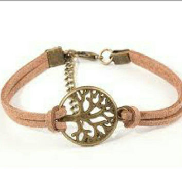 Tree Of Life Leather Bracelet - Friendship Bracelet