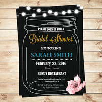 Customized bridal shower invitations, mason jar couples bridal shower invitations, Bridal Shower Invitations and Wedding Shower Invitations