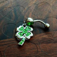 Shamrock Belly Button Ring