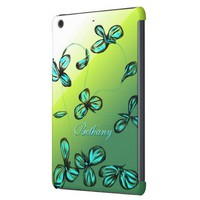 Blue Green Floral iPad Mini Case *customize*