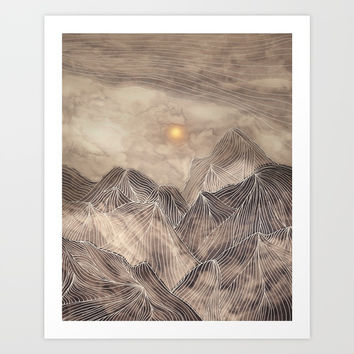 Lines in the mountains XII Art Print by Viviana Gonzalez
