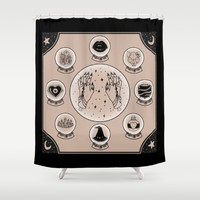 Witch Accessories Shower Curtain by Steph Marie Art