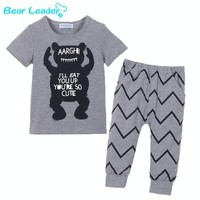 Bear Leader 2016 Summer Style Infant Clothes Baby Clothing Sets Boy Cotton little Monsters Short Sleeve 2pcs Baby Boy Clothes