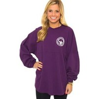 Southern Shirt Company Crew Neck Jersey Pullover in Grape