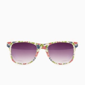 ShopSosie Style : Rosy Posy Sunglasses in White