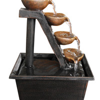 Alpine Four Tiered Step Tabletop Fountain