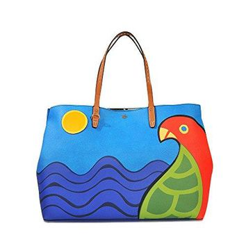 Tory Burch Kerrington Parrot Square Tote