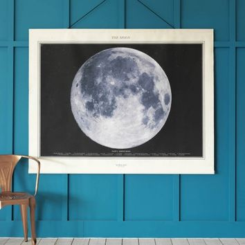Large Moon Canvas