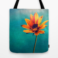 Sunshine Daisy Tote Bag by LJehle