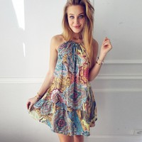 Colorful Women's Summer Boho Dress