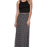 LA Hearts Black And White Chiffon Maxi Skirt at PacSun.com