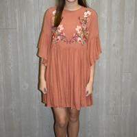 Simple Sunset Embroidered Dress