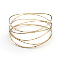 Tiffany & Co. - Elsa Peretti® Wave five-row bracelet in 18k gold, medium.