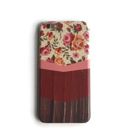 Flowers on wood iphone 6 case / iphone 6 plus case // Samsung galaxy S6 case // Samsung galaxy S5 case // iphone 4 5 5S 5C, S4 note 3 note 4