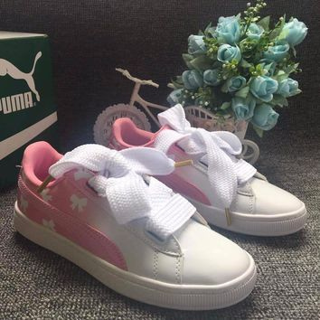Best Online Sale Puma Rihanna Custom Gradient Pink Shoes
