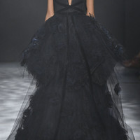 Tiered Ball-Gown With Silk Ombré Roses | Moda Operandi